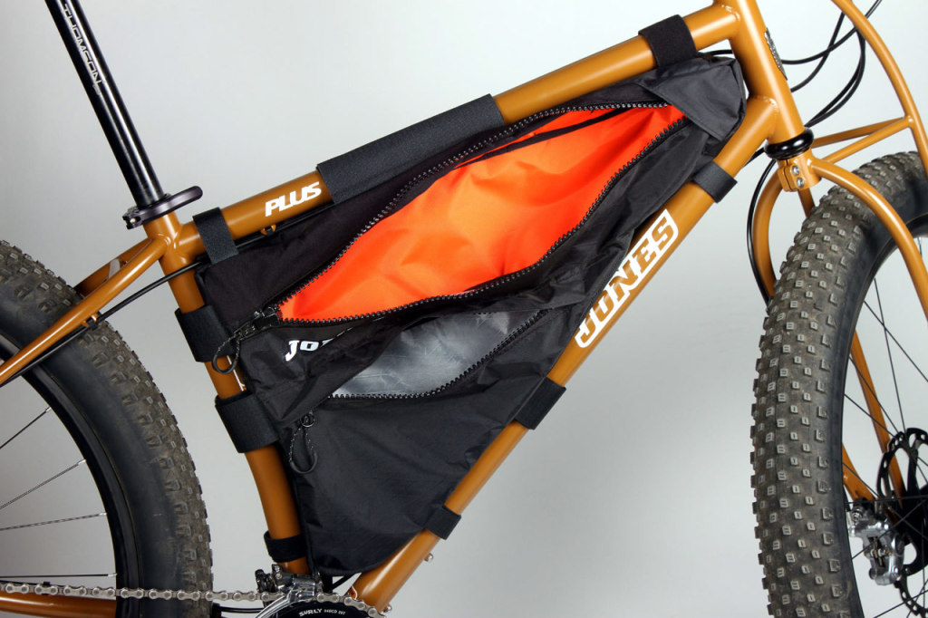 Drive side of the new frame pack with both zippers open