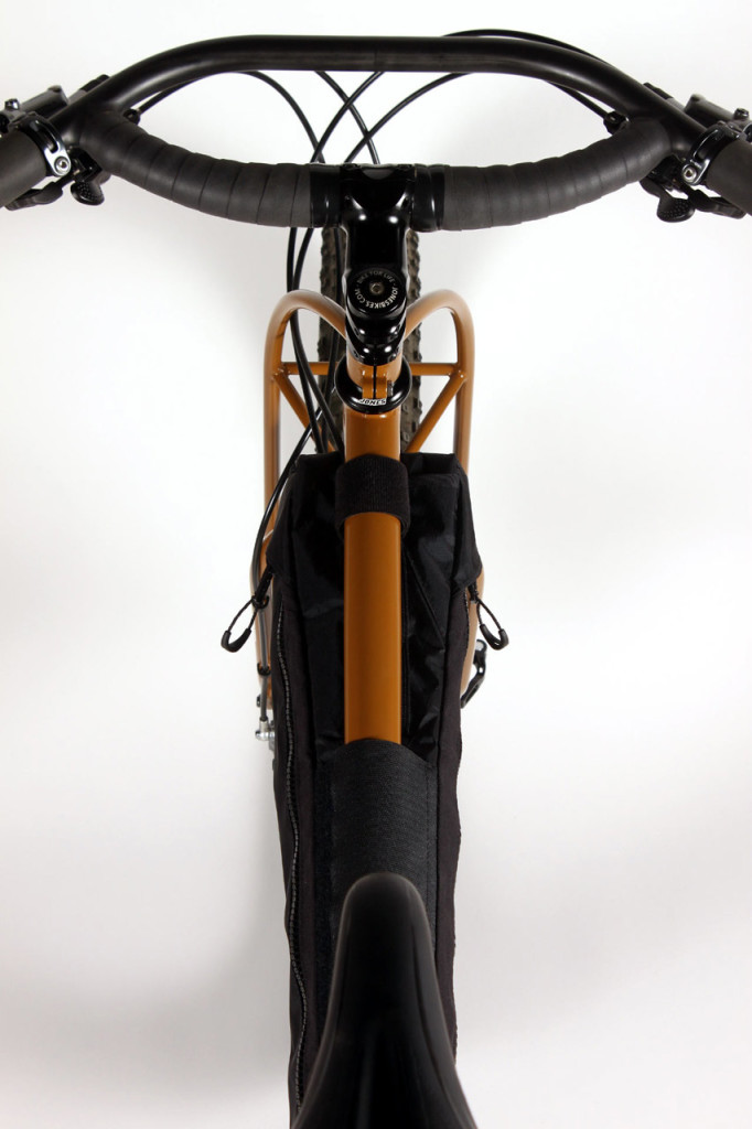 Rider's eye view of the Plus frame pack