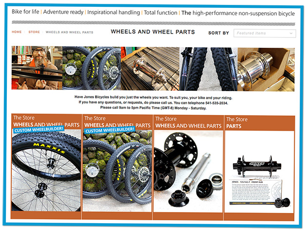 The Jones Store – wheel page