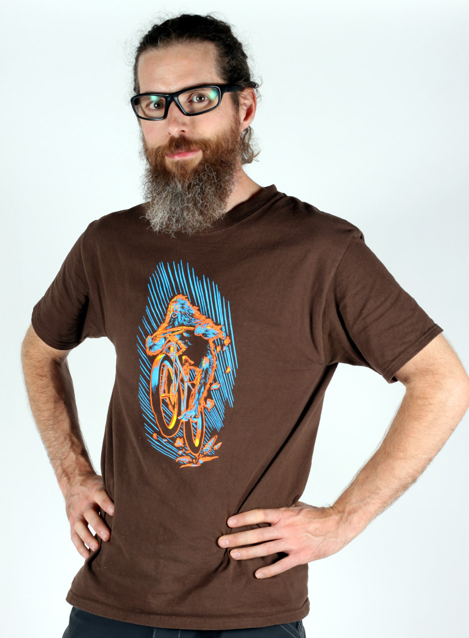 Jeff wearing our new Sasquatch T-shirt