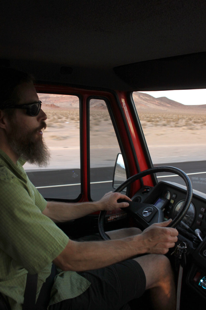 Jeff at the wheel.
